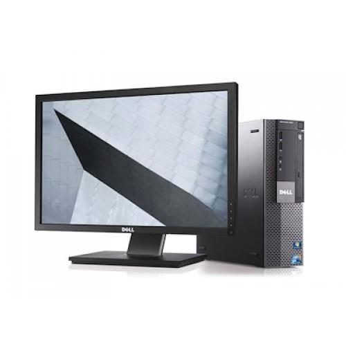 Pachet PC+LCD Dell Optiplex 7010 desktop, Core i3-3240 3.40Ghz, 8GB DDR3, 500Gb HDD, DVD
