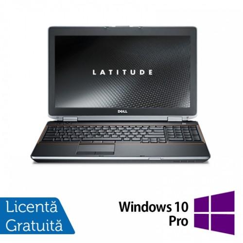 Laptop DELL Latitude E6520, Intel Core i5-2520M 2.50GHz, 4GB DDR3, 250GB SATA, 15.6 INCH,  DVD-RW + Windows 10 Pro