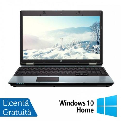 Laptop HP ProBook 6550B, Intel Core i5-520M 2.40GHz, 4GB DDR3, 250GB SATA, DVD-RW, 15.6 INCH + Windows 10 Home