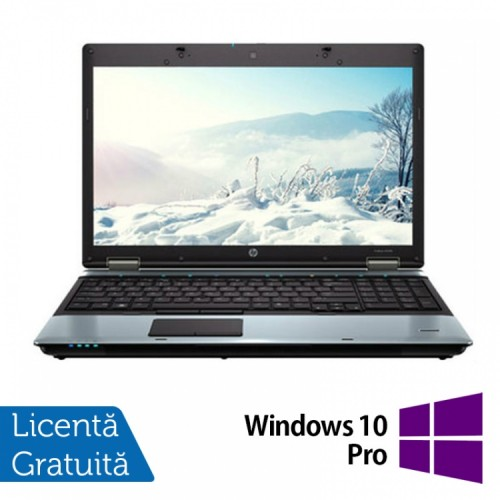 Laptop HP ProBook 6550B, Intel Core i5-520M 2.40GHz, 4GB DDR3, 250GB SATA, DVD-RW, 15.6 INCH + Windows 10 Pro