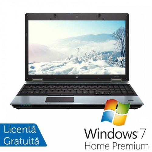 Laptop HP ProBook 6550B, Intel Core i5-520M 2.40GHz, 4GB DDR3, 250GB SATA, DVD-RW, 15.6 INCH + Windows 7 Home Premium