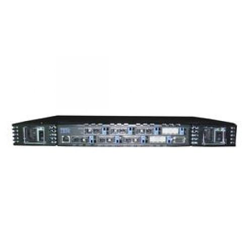 IBM 2109-S08, 8 Porturi Fibra, Management serial si RJ-45, 2 Surse redundante
