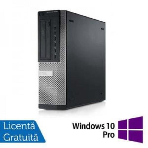 Calculator DELL 9010 Desktop, Intel Core i7-3770 3.40GHz, 4Gb DDR3, 250GB SATA, DVD-ROM + Windows 10 Pro