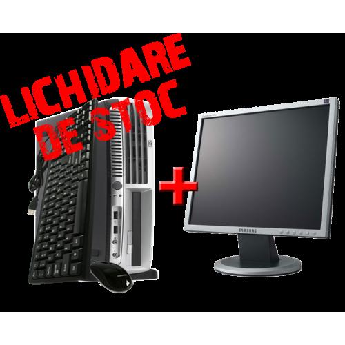 Unitate Desktop HP Compaq DC7600 SFF, Pentium D Dual Core 3.2 GHz, 1GB DDR2, 80GB HDD, DVD-ROM cu Monitor 17 inch ***