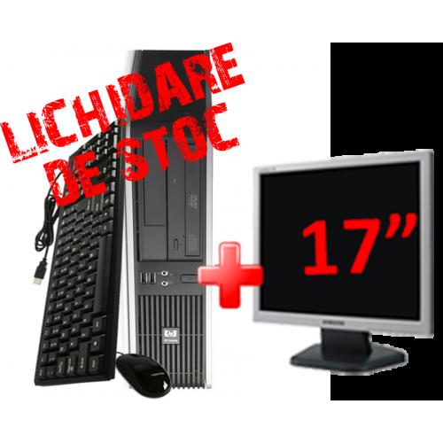 "Pachet Unitate Calculatoare SH HP DC7800,  Core 2 Duo E6550 2.0Ghz, 2Gb DDR2, 80Gb SATA, DVD-ROM cu Monitor 17"" ***"