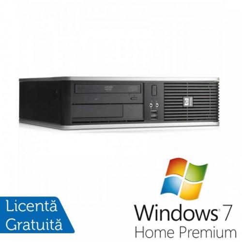 PC HP DC7900 SFF, Intel Core 2 Duo E7300 2.66GHz, 4GB DDR2, 160GB SATA, DVD-ROM + Windows 7 Home Premium