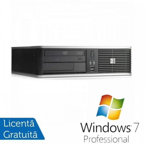 PC HP DC7900 SFF, Intel Core 2 Duo E7300 2.66GHz, 4GB DDR2, 160GB SATA, DVD-ROM + Windows 7 Pro