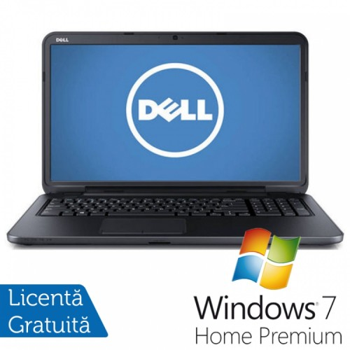Laptop DELL Inspiron 3721, Intel Core i3-3227U Generatia a 3-a 1.90GHz, 4GB DDR3, 500GB SATA, DVD-RW, 17.3 inch + Windows 7 Home Premium