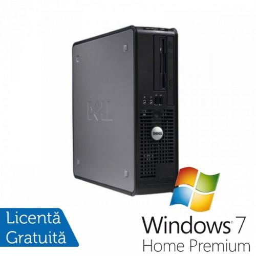Calculator DELL GX780 SFF, Intel Core 2 Duo E8400 3.00GHz, 4GB DDR3, 160GB SATA, DVD-RW + Windows 7 Home Premium