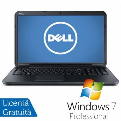 Laptop DELL Inspiron 3721, Intel Core i3-3227U Generatia a 3-a 1.90GHz, 4GB DDR3, 500GB SATA, DVD-RW, 17.3 inch + Windows 7 Professional