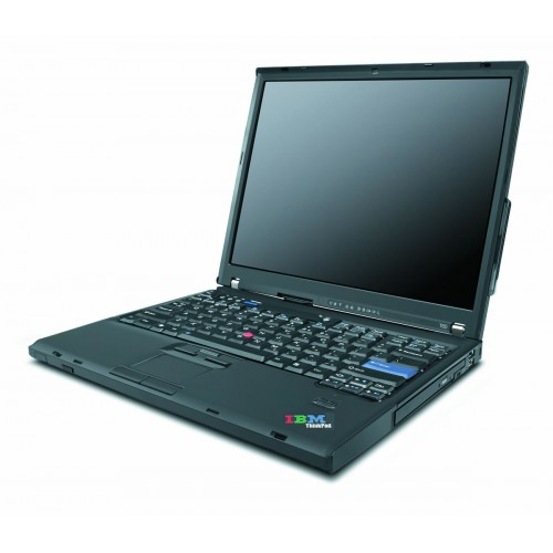 Laptop  Lenovo T60, Core Duo T2400, 1.83Ghz, 2Gb DDR2, HDD 80Gb, DVD, 14.1 inch, Baterie 90-100%