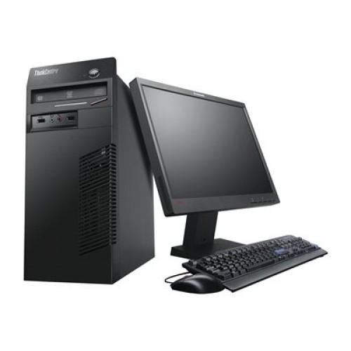 Pachet PC+LCD LENOVO ThinkCentre M82 Tower, Intel Core i3-3225 3.30 GHz, 4GB DDR3, 250GB SATA, DVD-ROM