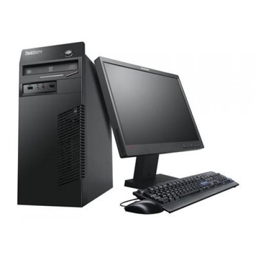 Pachet PC+LCD LENOVO ThinkCentre M82 Tower, Intel Core i3-3225 3.30 GHz, 4GB DDR3, 250GB SATA, DVD-ROM