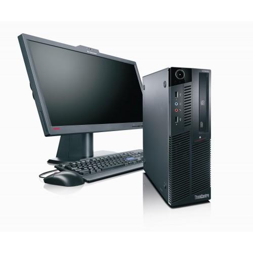 Calculator SH Lenovo M90p Desktop, i3-550 3.20Ghz, 4Gb DDR3, 250Gb HDD, DVD-RW cu Monitor LCD
