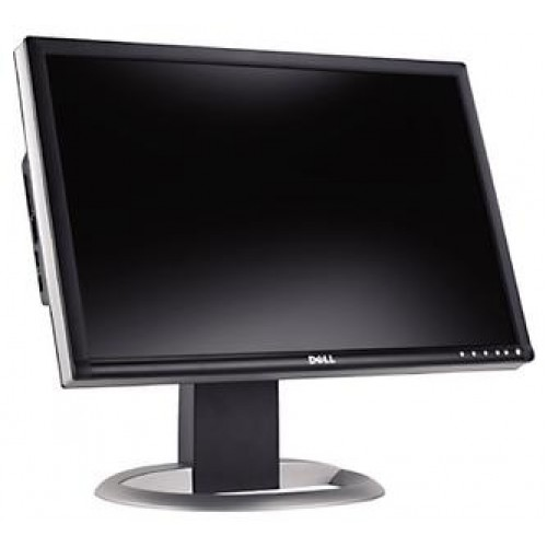 Monitor DELL 2405FPW, LCD 24 inch, 1920 x 1200, VGA, DVI, USB, WIDESCREEN, Full HD, Grad B, Fara picior
