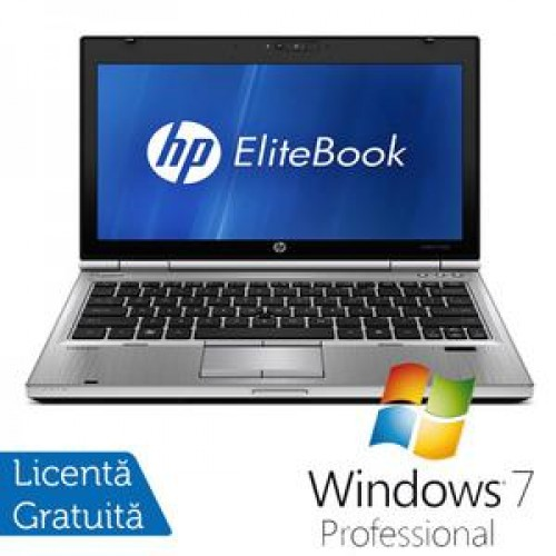 Laptop HP EliteBook 2560P, Intel Core i5-2410M 2.30GHz, 4GB DDR3, 250GB SATA, DVD-RW + Windows 7 Professional