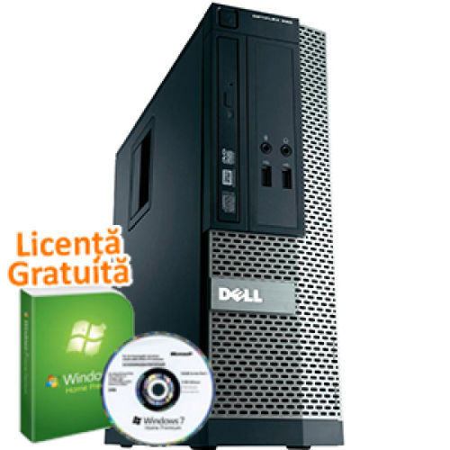 Unitate PC SH Dell OptiPlex 390, Intel Core i3-2100, 3.1Ghz, 4Gb DDR3, 250Gb HDD, DVD-RW, HDMI + Windows 7 Premium