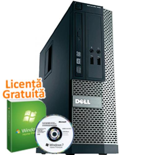 Unitate PC SH Dell OptiPlex 390, Intel Core i3-2100, 3.1Ghz, 4Gb DDR3, 250Gb HDD, DVD-RW, HDMI + Windows 7 Professional