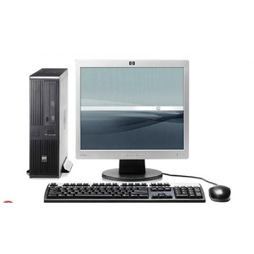 Pachet PC HP DC7800 Desktop, Intel Core 2 Duo E7200 2.53Ghz, 2Gb DDR2, 160Gb SATA, DVD-RW cu monitor LCD