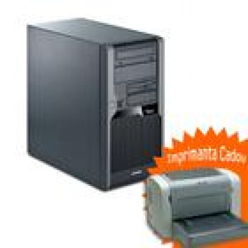 PC SH Fujitsu P5731, Intel Dual Core E5200 2.5Ghz, 4Gb DDR3, 250Gb SATA, DVD-RW + Imprimanta EPL-6200 Cadou