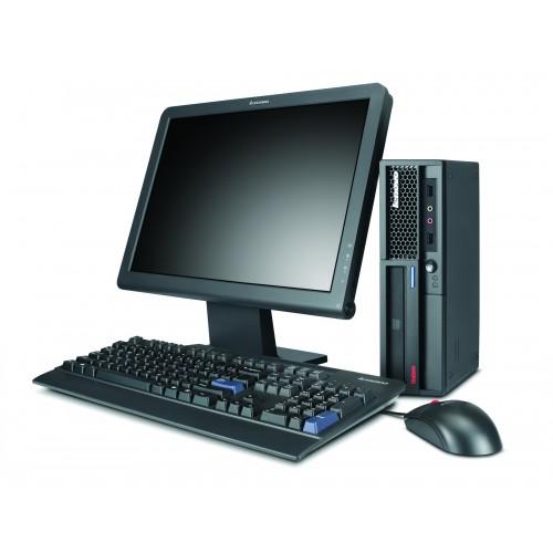 PC Lenovo A61E USFF,  Dual Core AMD Athlon X2 BE-2350, 2.1Ghz, 2Gb DDR2, 160GB HDD, DVD / DVD-RW cu Monitor LCD