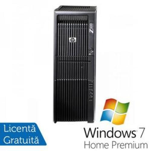 Statie Grafica HP Z600, 2x Intel Xeon Six Core E5645 2.40Ghz 12Mb Cache, 32Gb DDR3 ECC, 1TB HDD + 120GB SSD, DVD-ROM, NVIDIA QUADRO 600 1GB 128bit + Windows 7 Home Premium