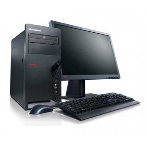 Pachet PC+LCD Lenovo ThinkCentre M58e, Intel Core 2 Duo E8400 3.00Ghz, 2Gb DDR2, 160Gb HDD, DVD-ROM