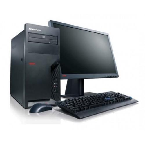 Pachet PC+LCD Lenovo ThinkCentre M58e, Intel Core 2 Duo E8400 3.00Ghz, 2Gb DDR2, 160Gb HDD, DVD-ROM