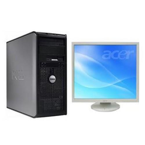 PC Dell Optiplex 360, Intel Dual Core E5200, 2.5 Ghz, 2Gb, DDR2, 160GB, DVD-RW + Monitor 19 inch, 1280 x 1024, 16.7 milioane culori