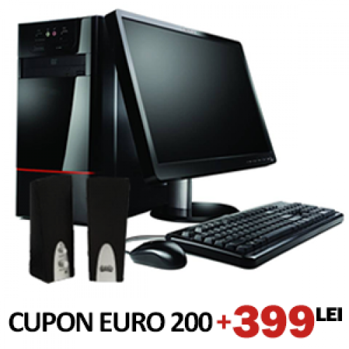 Cupon EURO200 Sistem Advanced, Intel Core 2 Duo 2x 3000, 4gb ram, 320 hdd, dvd-rw + LCD 17inch***