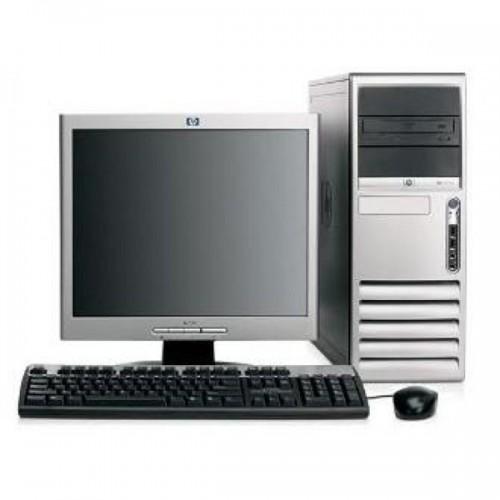 Pachet PC HP DC7700 Tower, Intel Dual Core E2140 1.60GHz, 2Gb DDR2, 80 GB, DVD cu monitor LCD