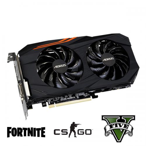 Placa video gaming AORUS Radeon RX570 4G GDDR5 256 Bits 7000Mhz Dual Link DVI-D - Fortnite, CS-GO, GTA 5
