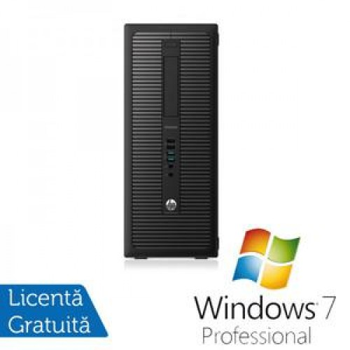 Calculator HP EliteDesk 800G1 Tower, Intel Core i7-4770 3.40GHz, 8GB DDR3, 500GB SATA, DVD-RW + Windows 7 Home Professional