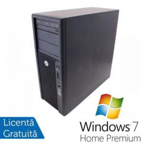 Statie Grafica HP Z210, Intel Xeon E3-1240, 3.3 Ghz, 8Gb DDR3, 750Gb HDD, DVD-ROM + Windows 7 Home Premium