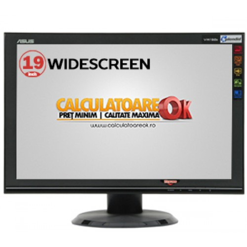 Monitor Second Hand LCD Asus VW192S, 19 inch, Widescreen 1280x1024, VGA ***