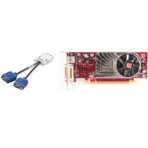 Placa video PCI-E Ati Radeon HD 2400 XT, 256 Mb, DMS-59, TV-out + adaptor DMS-59 la 2 x VGA