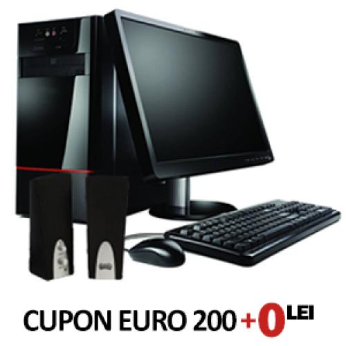 Cupon EURO200 Sistem Basic, Intel dual core, 2x 2200, 2gb ram, 250 hdd, dvd-rom + LCD 17inch***