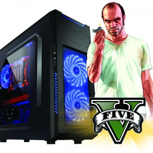 Calculator Gaming Fortnite Tower Intel Core i7-3770 3,40GHz , Video NVIDIA GFORCE GTX 74X 4GB DDR 128 BITS, 8Gb DDR3, 500 GB HDD  - GTA5, CS-GO, Fortnite