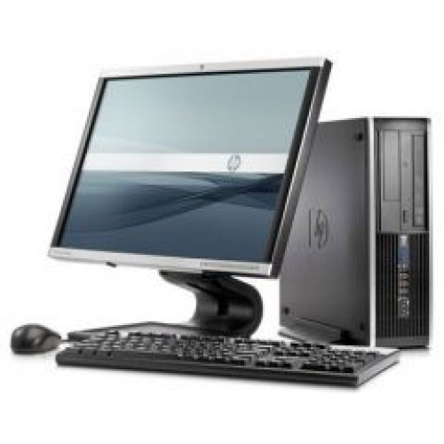 Computer HP Compaq Elite 8000 SFF, Intel E8400 Core 2 Duo, 3.0Ghz, 4Gb DDR3, 320Gb, DVD-RW  cu Monitor 15 inch LCD