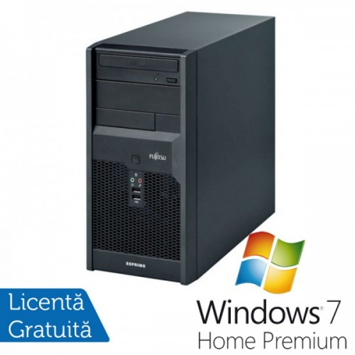 Calculatoare Fujitsu P3521, Intel Core 2 Duo E6600, 2,4GHz, 4Gb DDR3, 320Gb SATA, DVD-RW + Windows 7 Home