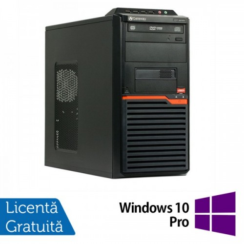 Calculatoare Gateway DT55, AMD Athlon II X2 250 3.0 Ghz, 4Gb DDR2, 320Gb, DVD-RW + Windows 10 PRO