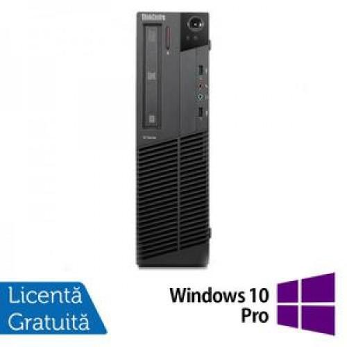 PC Lenovo Thinkcentre M91p SFF, Intel Core i5-2400, 3.4Ghz, 4Gb DDR3, 250Gb HDD, DVD-RW + Windows 10 Pro
