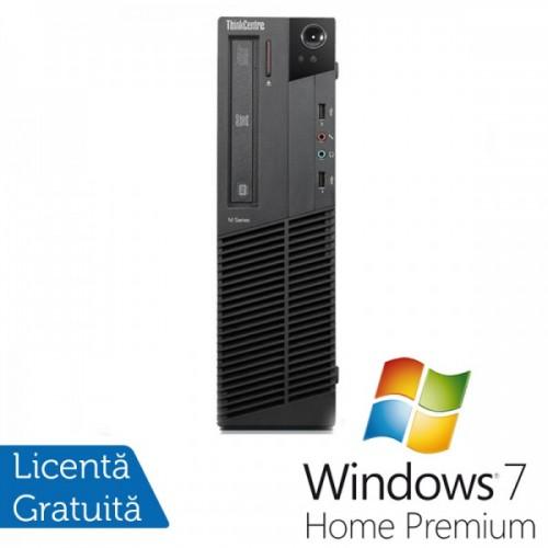 Calculatoare Lenovo Thinkcentre M91p SFF, Intel Core i5-2400, 3.1GHz, 4Gb DDR3, 320Gb HDD, DVD-RW + Windows 7 Home Premium