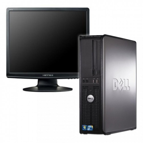 Pachet calculator SH Dell Optiplex 780 Desktop , Intel Core2 Duo E7600 3.06Ghz, 2Gb DDR3, 80Gb, DVD-RW cu Monitor LCD ***