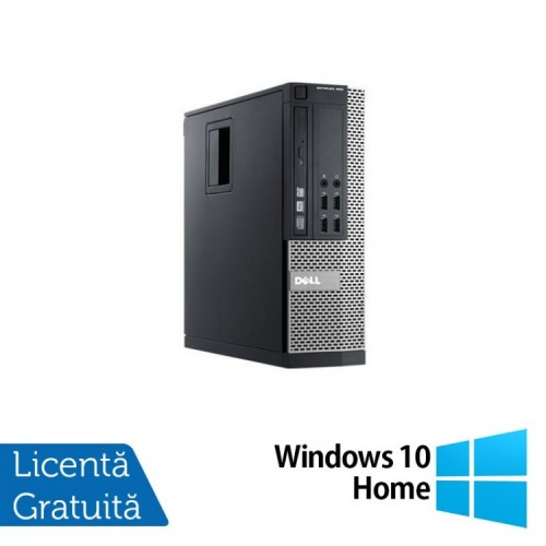 Calculator Dell 990 SFF, Intel Core i5-2400 3.10GHz, 4GB DDR3, 250GB SATA, DVD-RW + Windows 10 Home, Refurbished