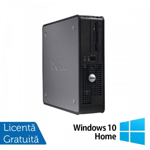 Calculator DELL GX780 SFF, Intel Pentium Dual Core E5800 3.20GHz, 4GB DDR3, 160GB SATA, DVD-RW + Windows 10 Home