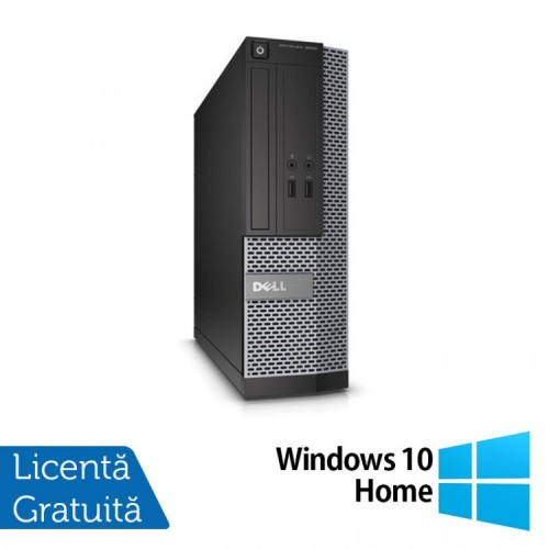 Calculator DELL Optiplex 3020 SFF, Intel Pentium G3220 3.00GHz, 4GB DDR3, 500GB SATA, DVD-RW + Windows 10 Home, Refurbished
