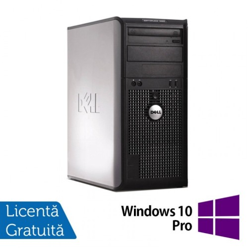 Calculator Dell OptiPlex 380 Tower, Intel Pentium Dual Core E5700 3.00GHz, 2GB DDR3, 250GB SATA, DVD-RW + Windows 10 PRO