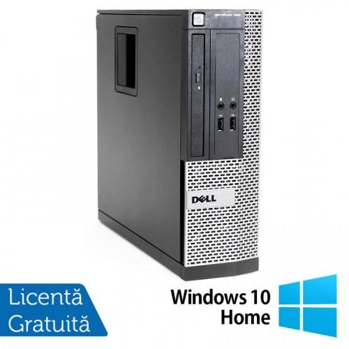 Calculator Dell OptiPlex 390 SFF, Intel Core i3-2100 3.10GHz, 4GB DDR3, 250GB SATA, Radeon HD7470 1GB DDR3, DVD-ROM + Windows 10 Home, Refurbished