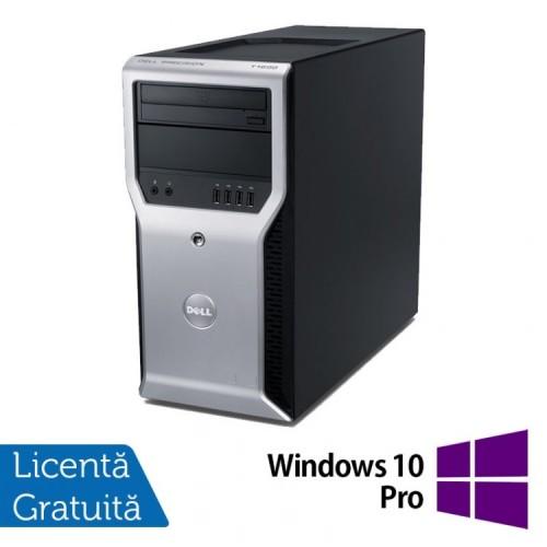 Calculator Dell Precision T1600, Intel Core i3-2100 3.10GHz, 4GB DDR3, 320GB SATA, DVD-ROM + Windows 10 PRO